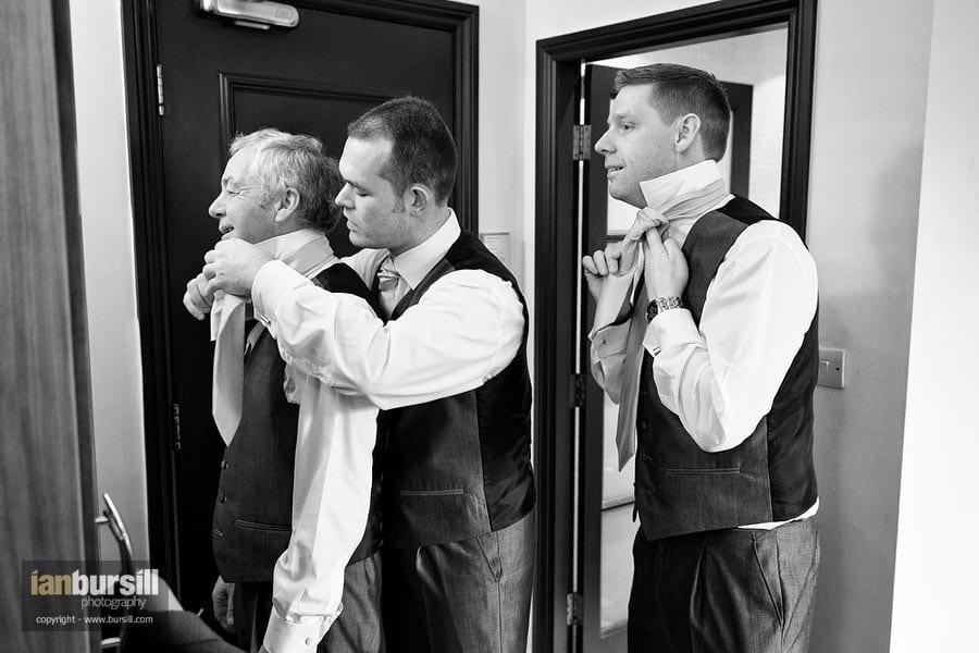 Nottingham Wedding Groom Preparation