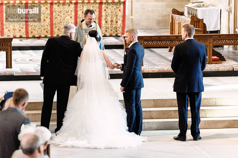 Southwell Minster Wedding Father Giving Bride Away
