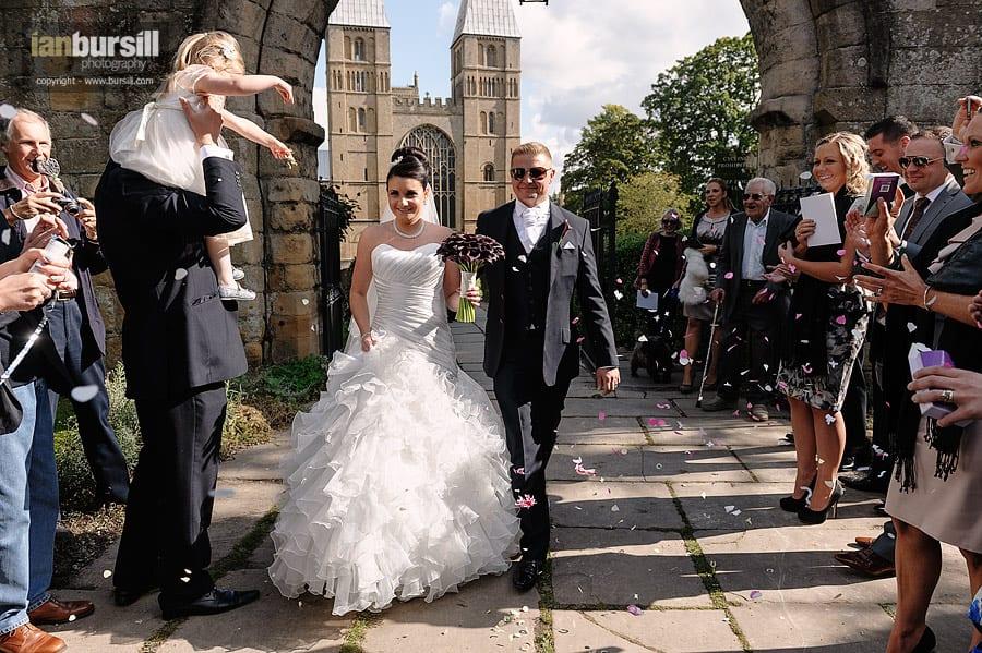 Southwell Minster Wedding Confetti