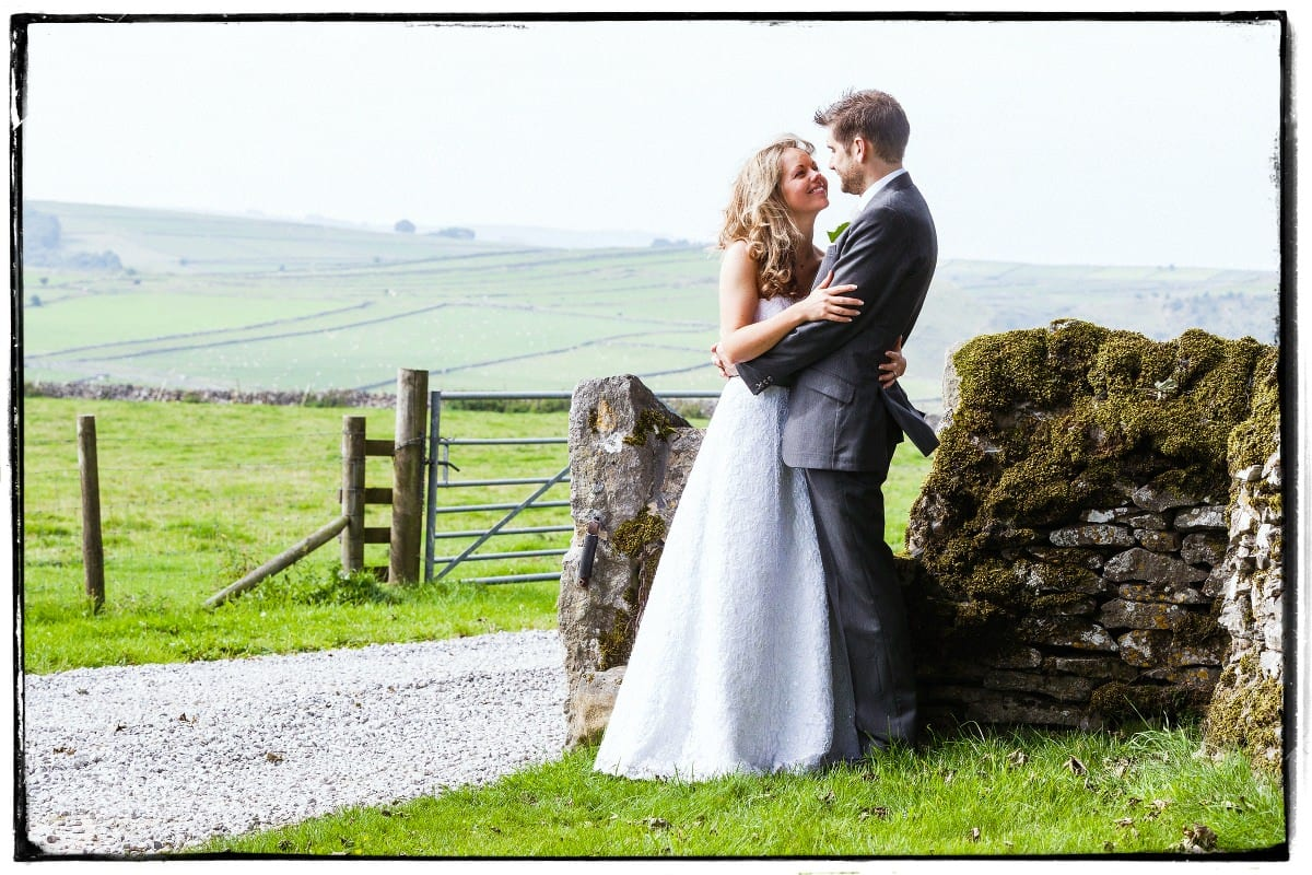 Natural wedding photographers rural location shoot