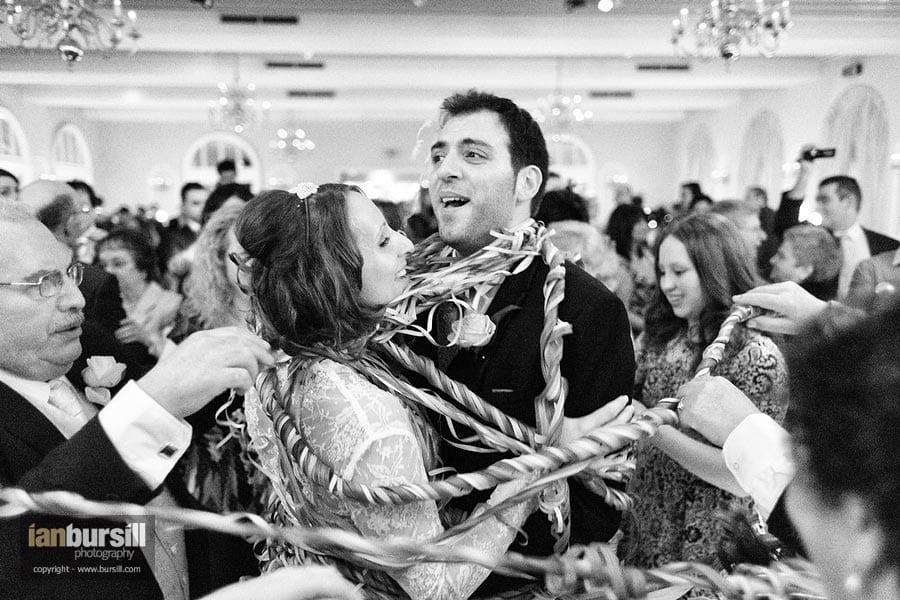 Italian Wedding Dance Couple Wrapped In Streamers