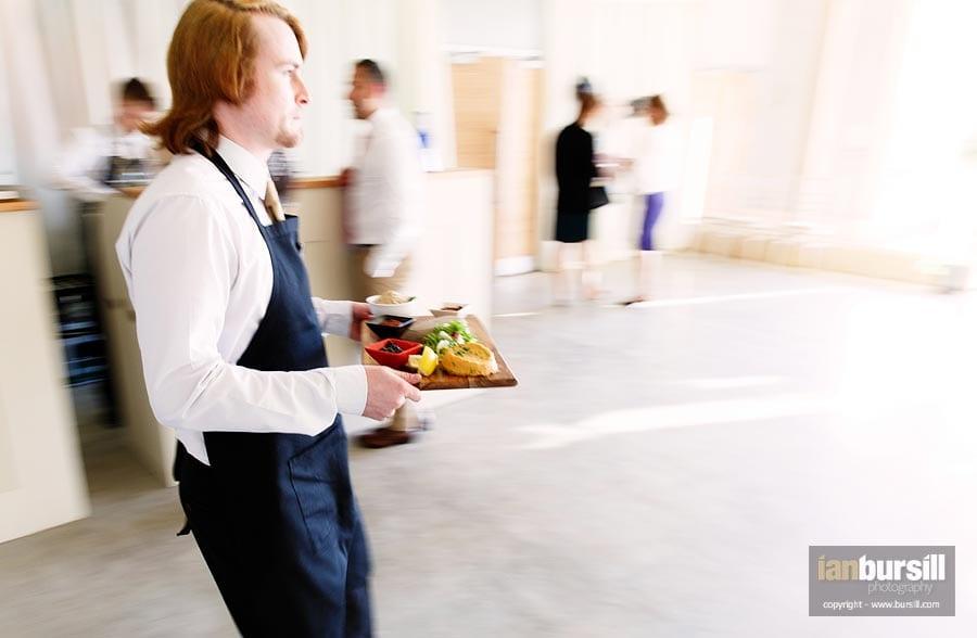 Wedding Food Being Served