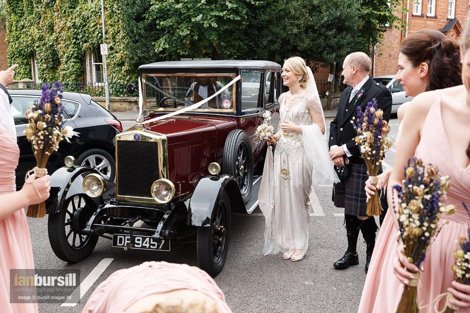 Sir John Moore Foundation Wedding - Car