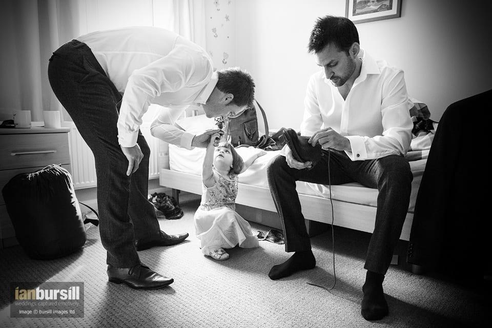 Sir John Moore Foundation Wedding - Groom Preparations
