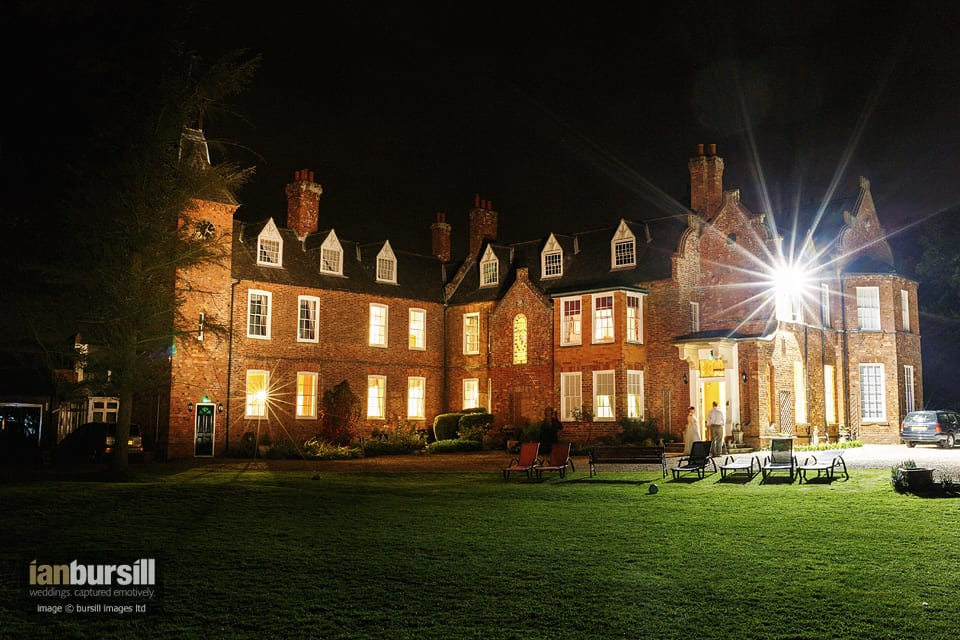 Skendleby Hall Exterior at Night