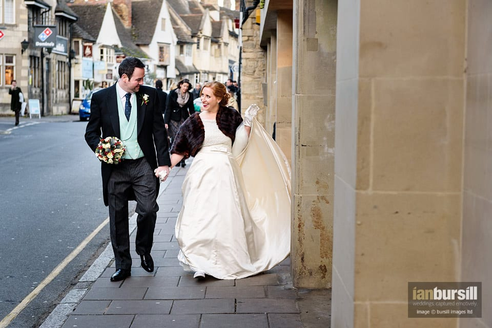 Stamford School Chapel Wedding - The Walk Through Stamford Town