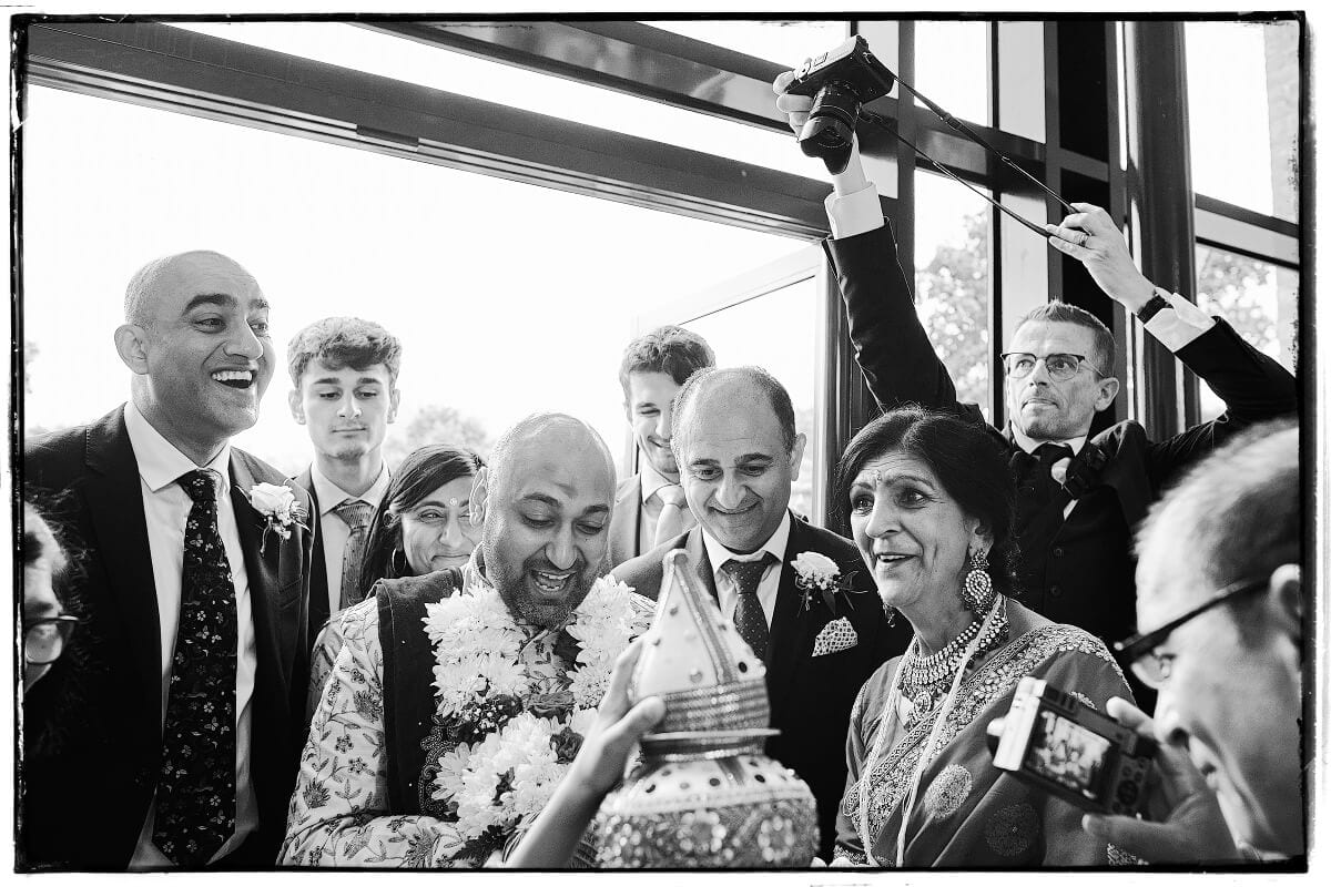 Wedding Photographer Ian Bursill at Winstanley House in Leicester.