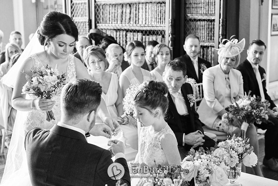 Wedding ceremony at Prestwold Hall