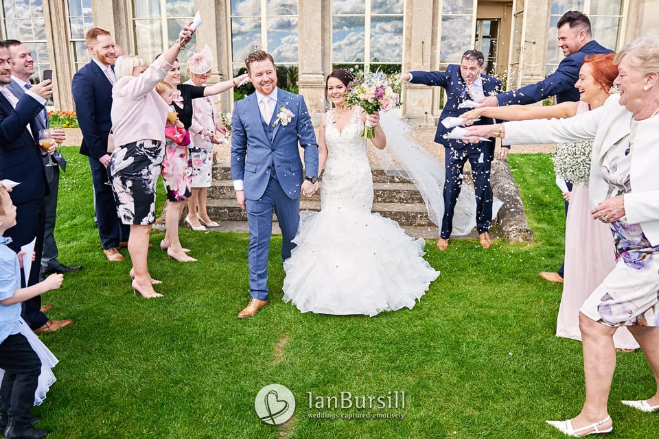Bride & Groom at Prestwold Hall